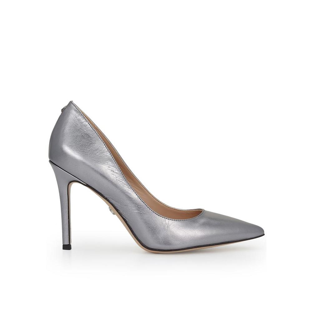 Hazel Leather Heels - Anthracite