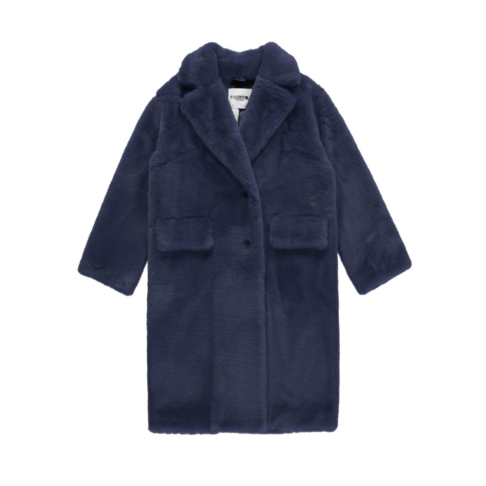Remire Faux Fur Coat - China Ink