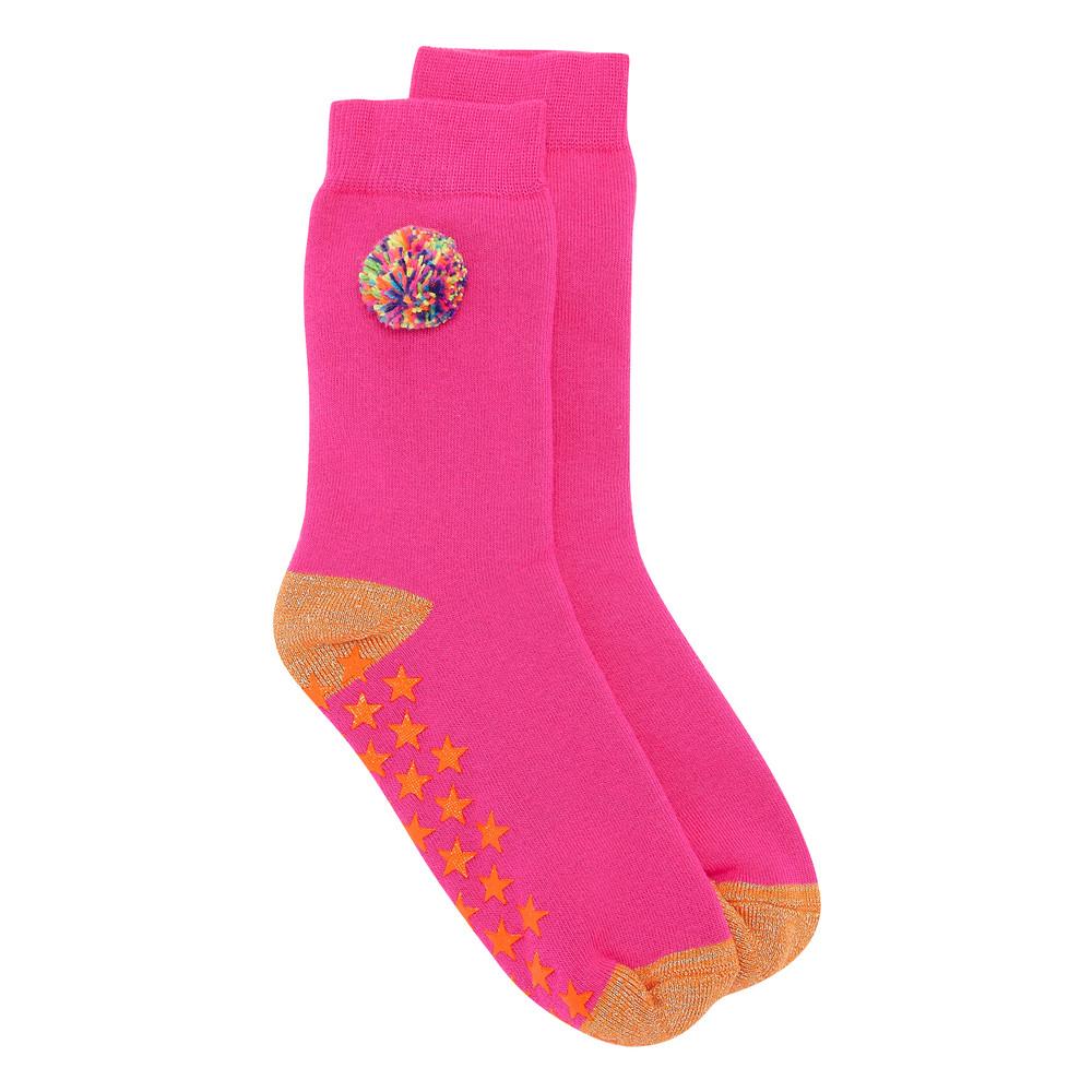 Slipper Socks - Pom Pom Pink