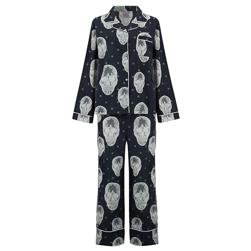 Skull Pyjama Set - Black