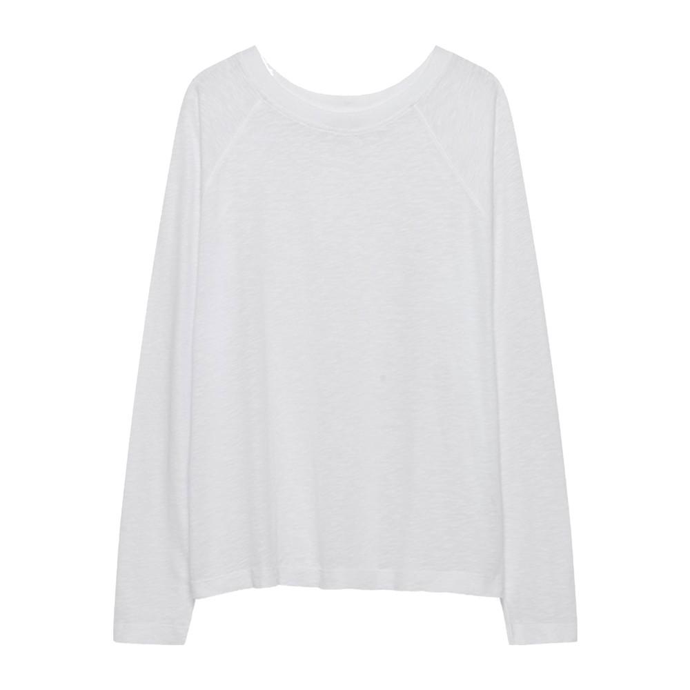 Lorkford Long Sleeve Cotton Tee - White