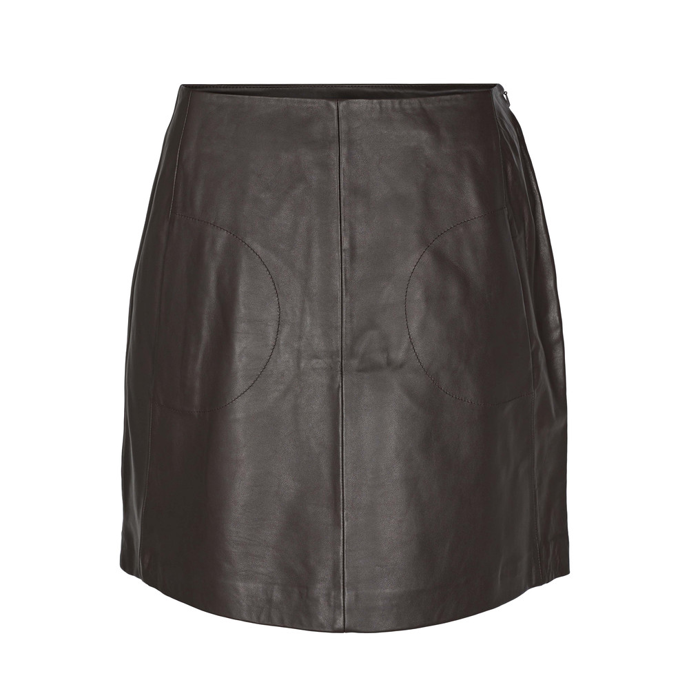 Day Nissa Leather Skirt - Groom