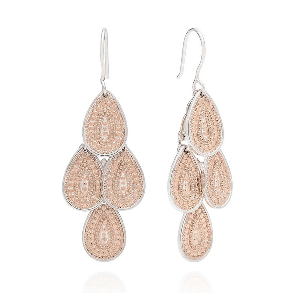 XL Chandelier Earrings - Rose Gold