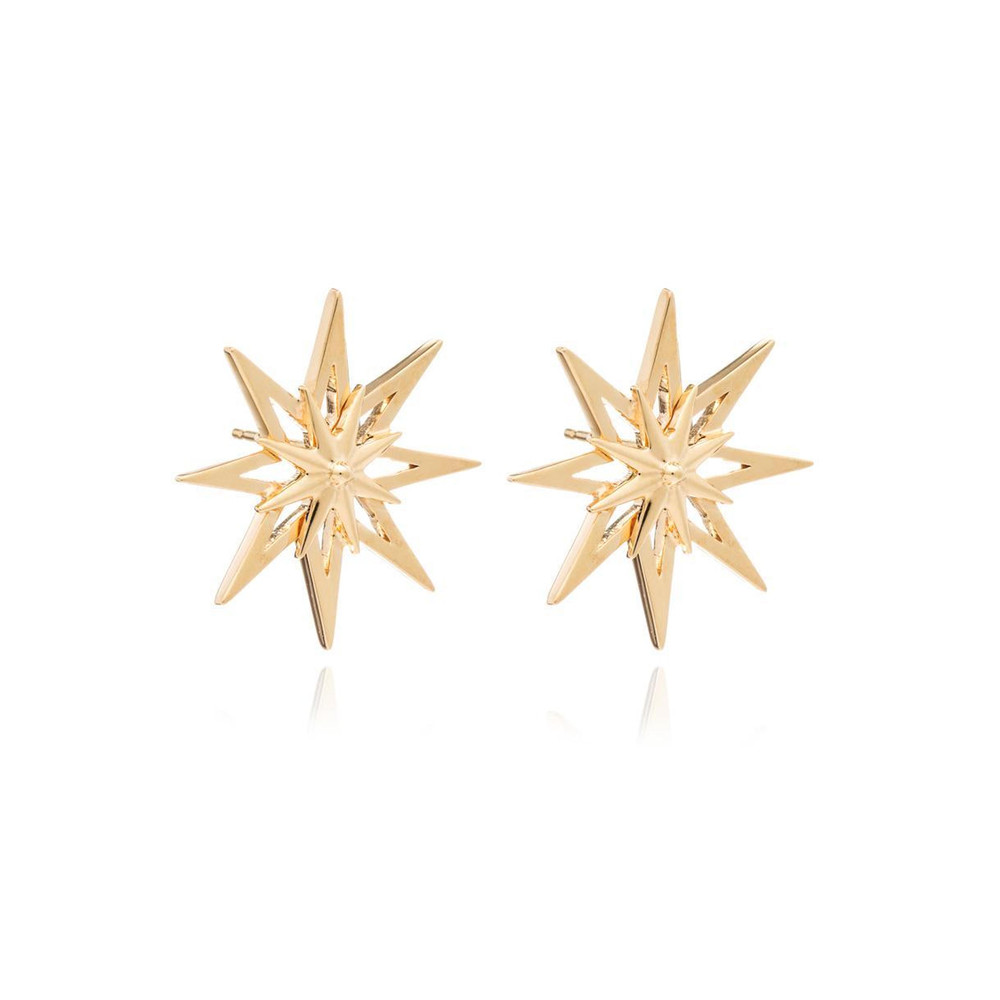 Rockstar Star Large Studs - Gold
