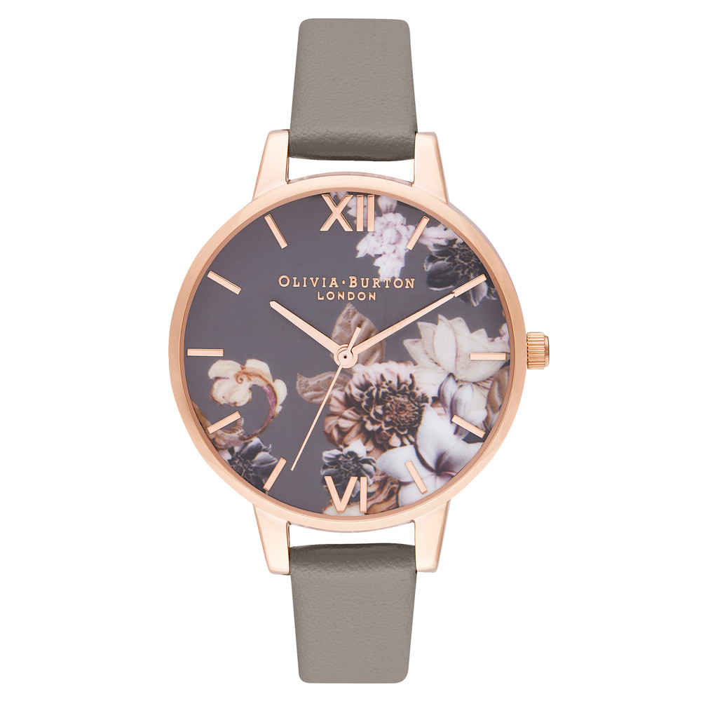 Marble Florals Watch - London Grey & Rose Gold