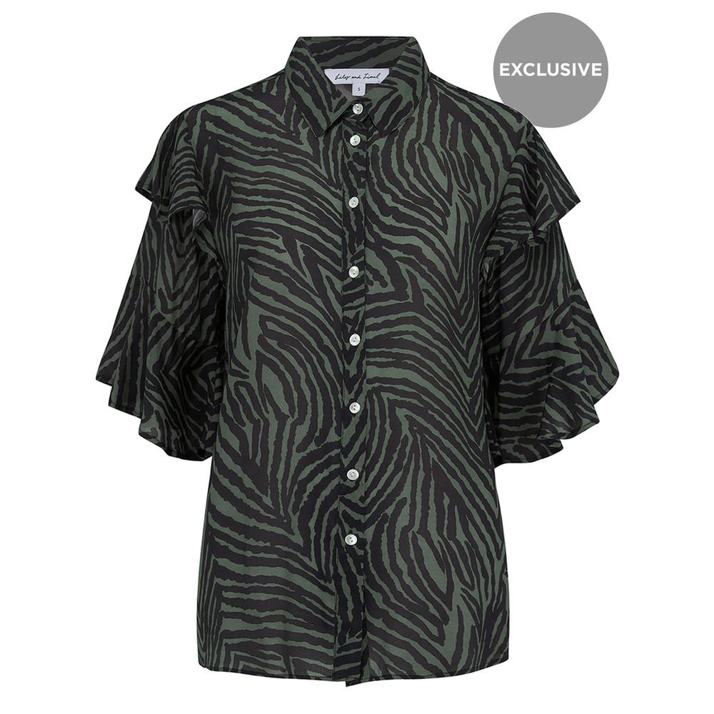 Exclusive Frankie Shirt - Zebra Khaki