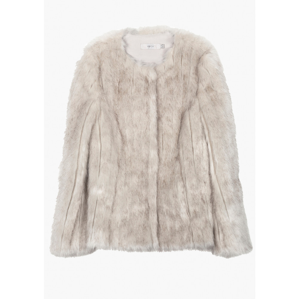 Faux Fur Short Jacket - White