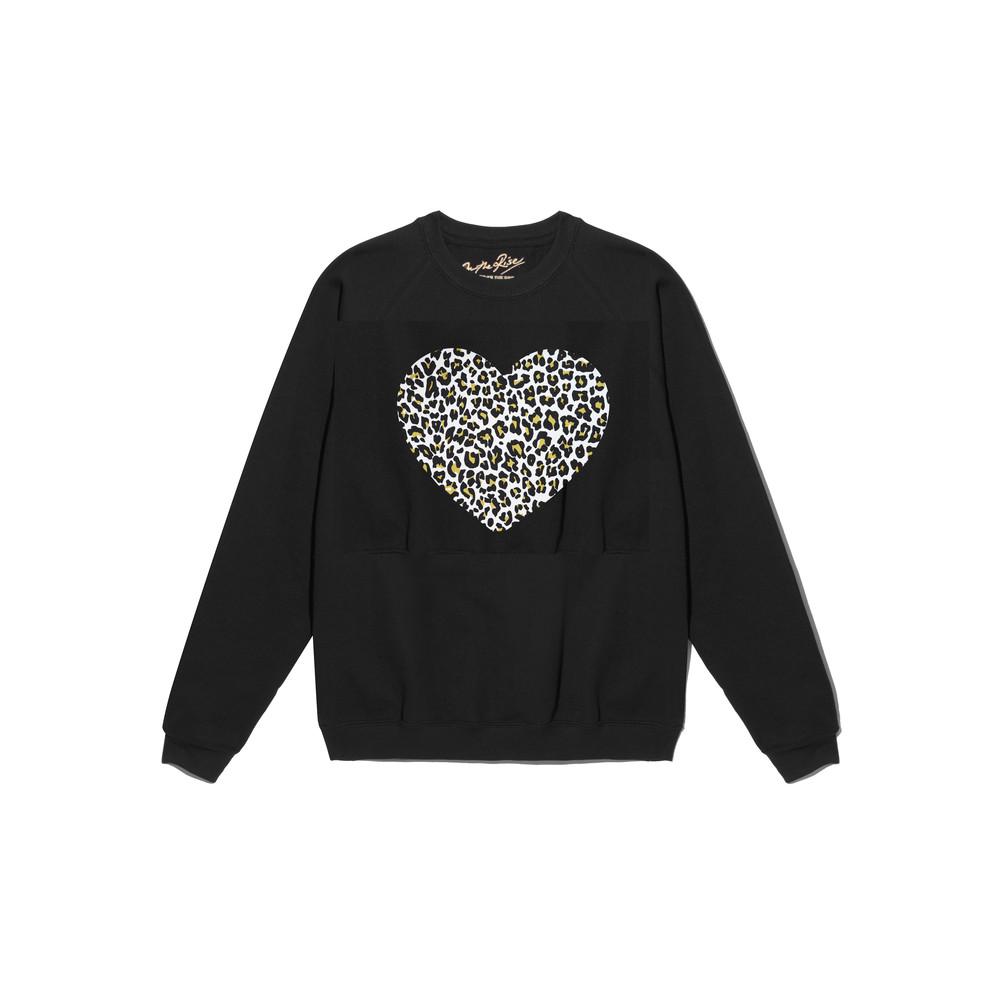 Leopard Heart Jumper - Black