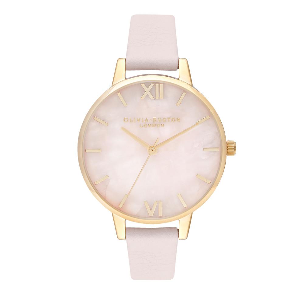 Semi Precious Midi Dial Watch - Rose Quartz, Blossom & Gold