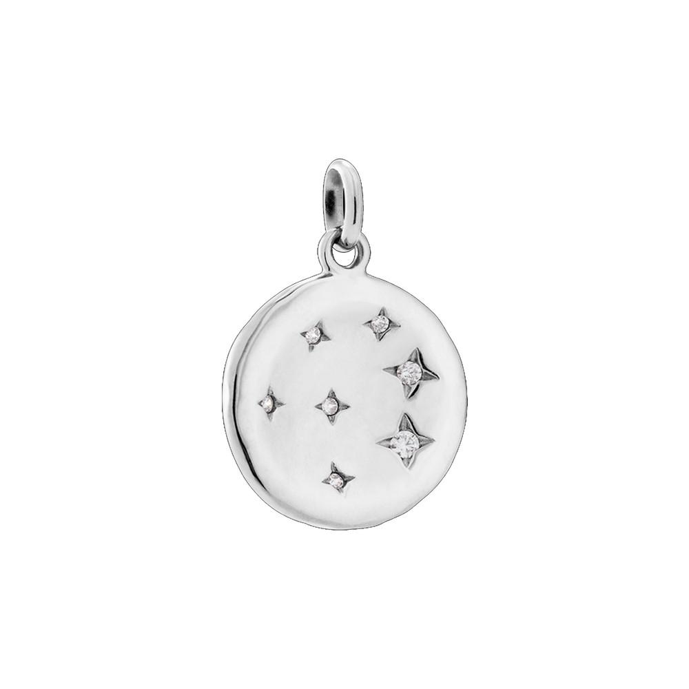 Constellation Circle Charm - Silver