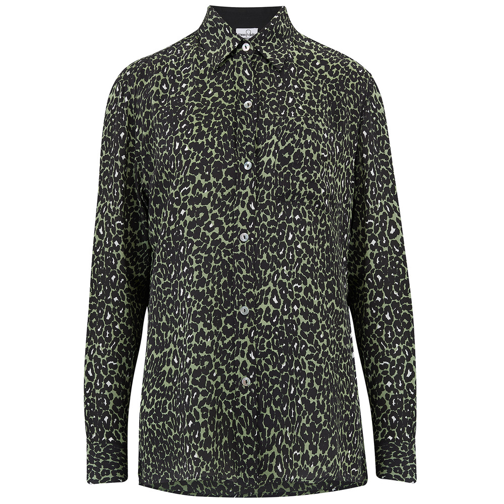 Goodwood Silk Shirt - Micro Safari