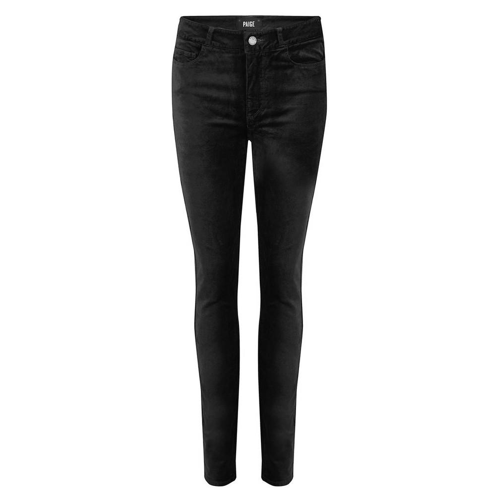 Hoxton Velvet Skinny Jeans - Black Overdye