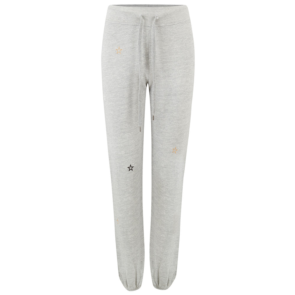 Embroidered Stars Classic Sweatpants - Grey