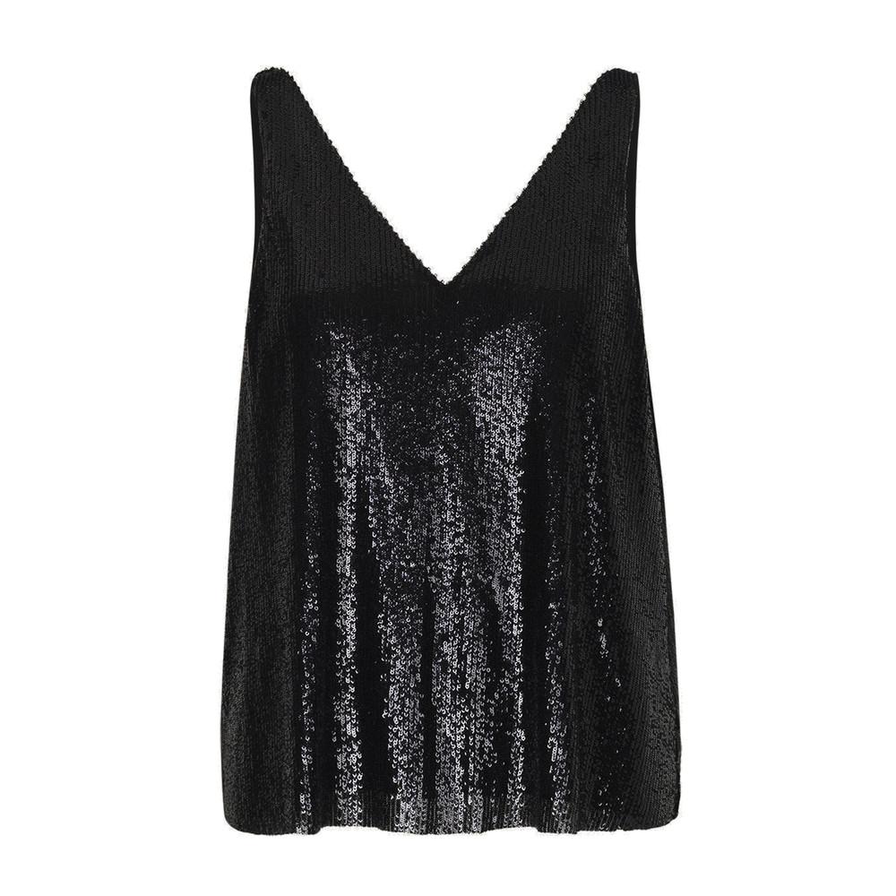 Hale Sequin Top - Black