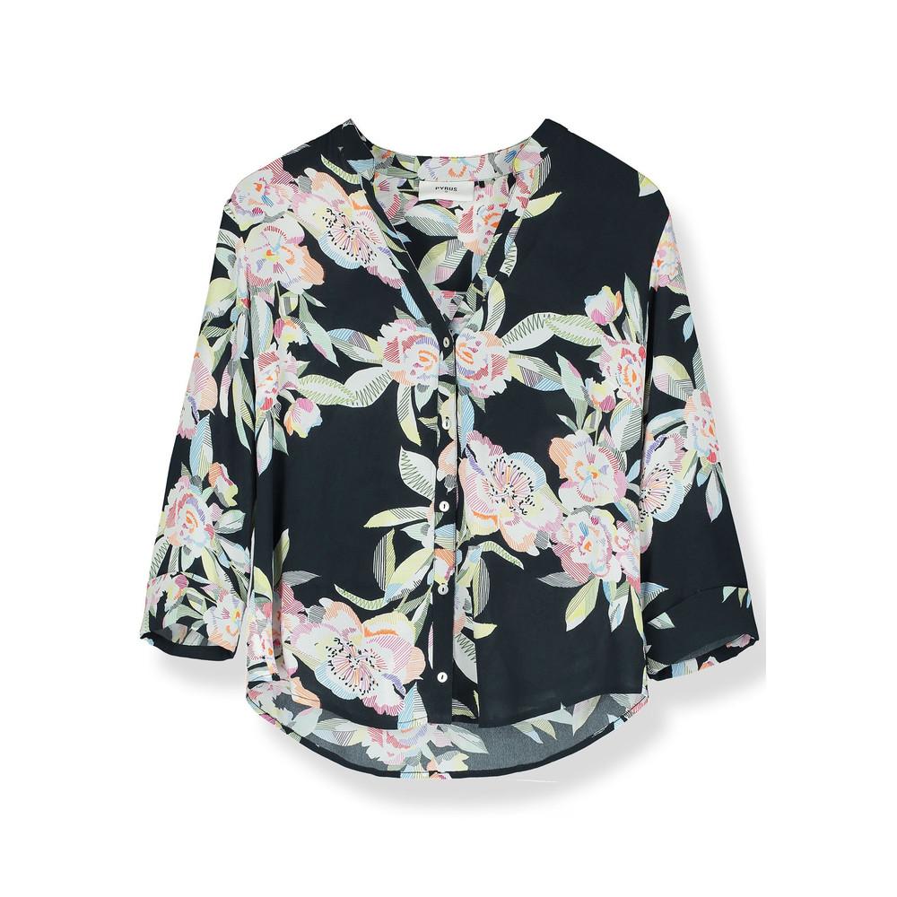 Hive Silk Blouse - Line Floral