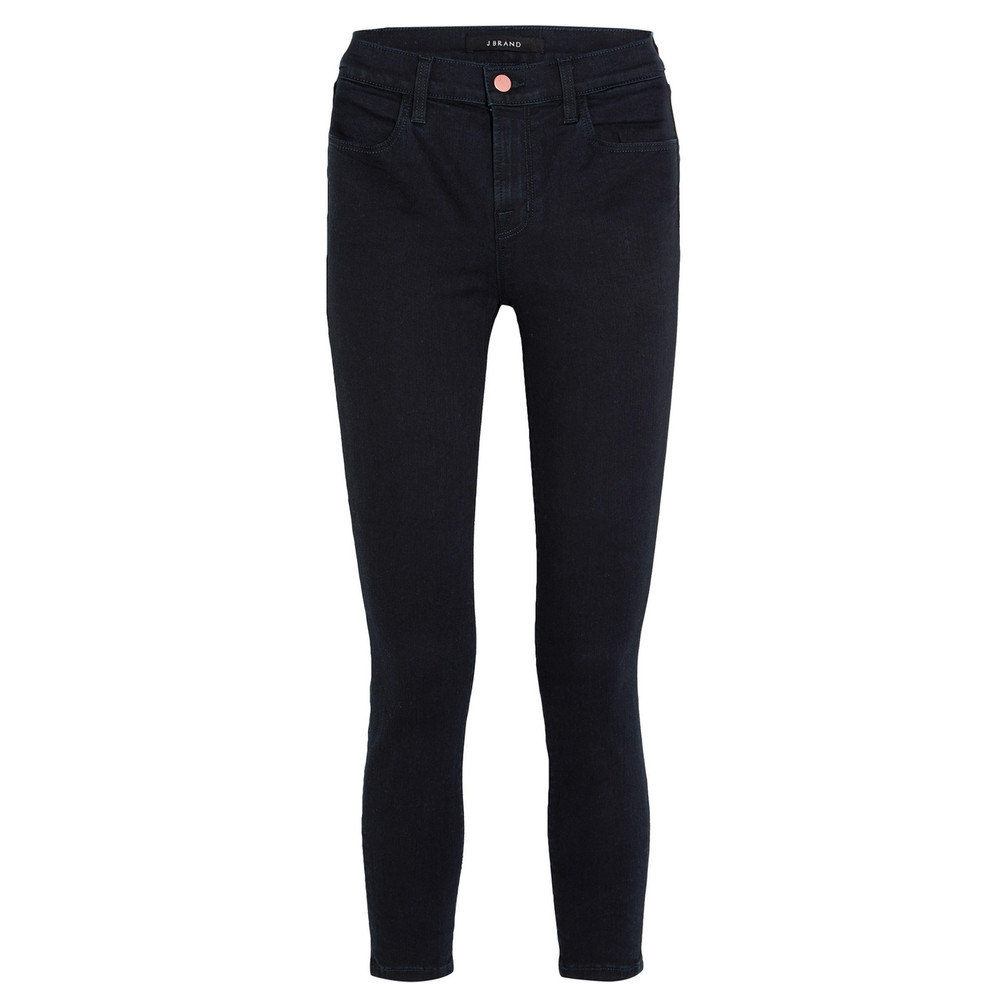Alana High Rise Cropped Super Skinny Jeans - Bluebird