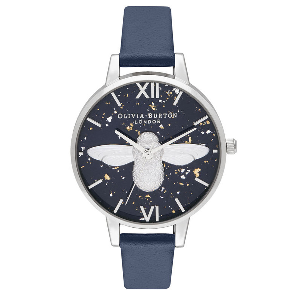 Celestial 3D Bee Demi Dial Watch - Midnight, Navy & Silver