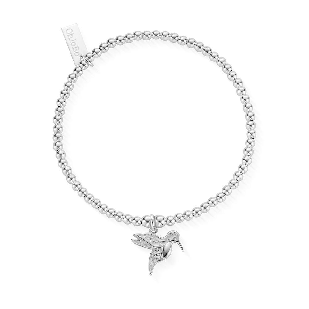 Cute Charm Hummingbird Bracelet - Silver