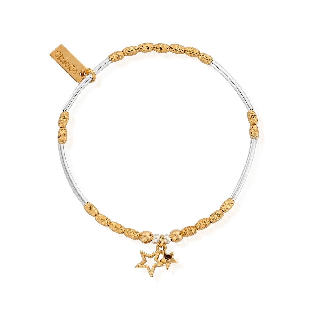 Double Star Bracelet - Gold & Silver