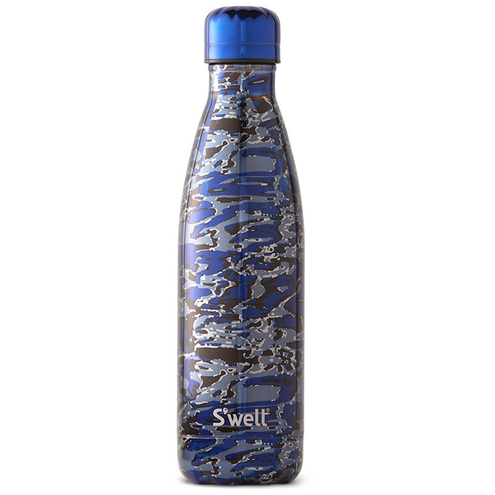 Metallic Camo 17oz Water Bottle - Clandestine Blue