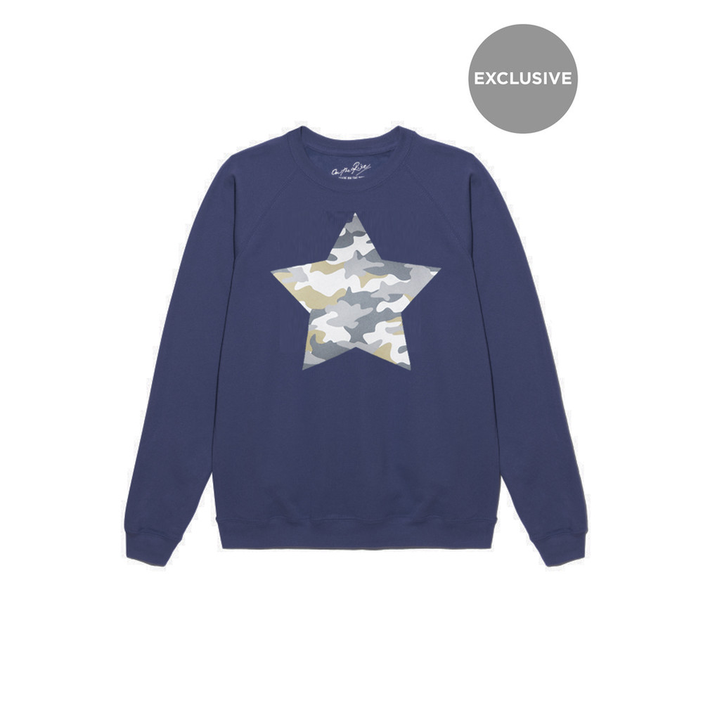 Exclusive Camouflage Star Jumper - Navy