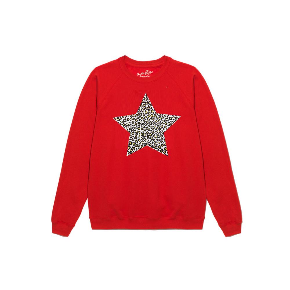 Leopard Star Jumper - Red