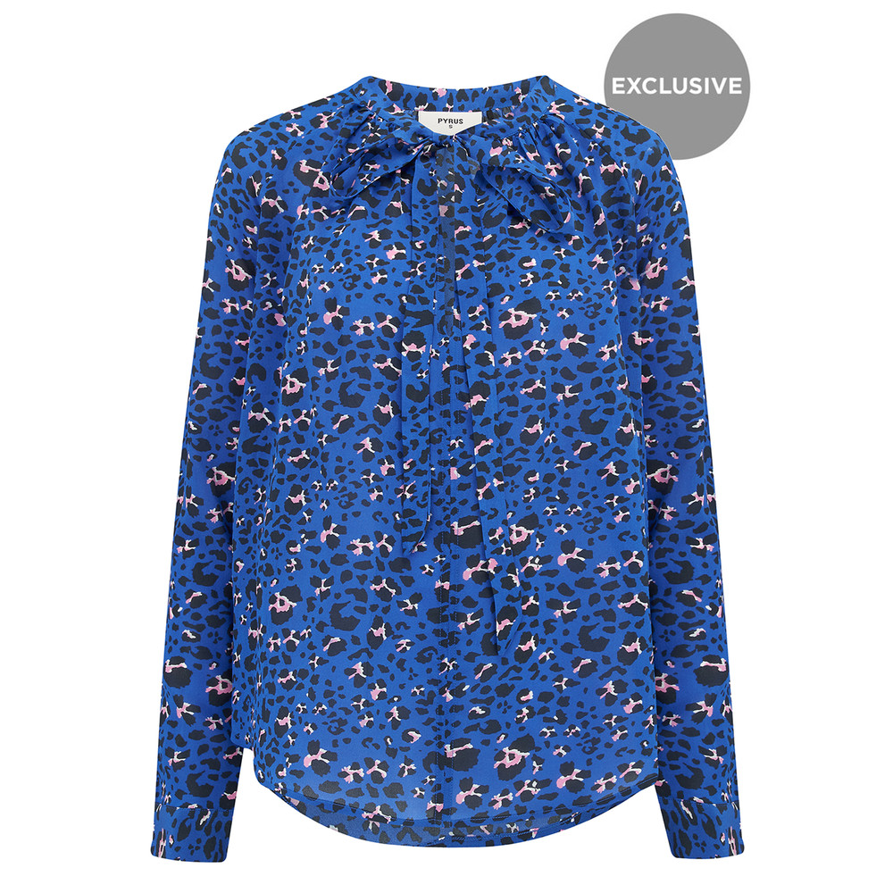 Exclusive Annie Long Sleeve Blouse - Animal Print