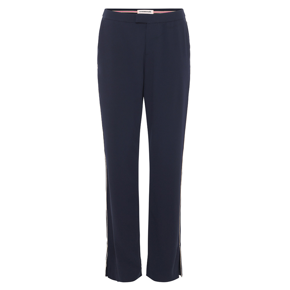 Malou Piped Trousers - Night Sky