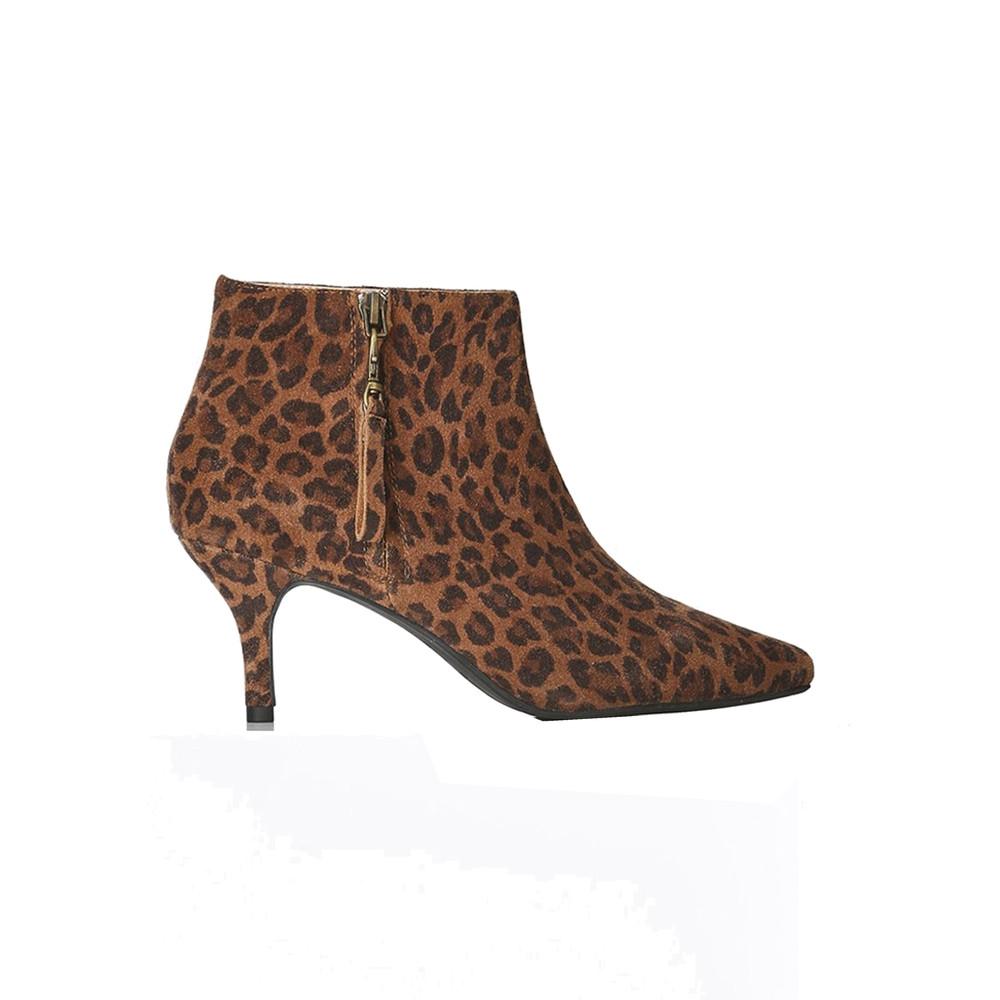 Agnete Suede Boots - Leopard