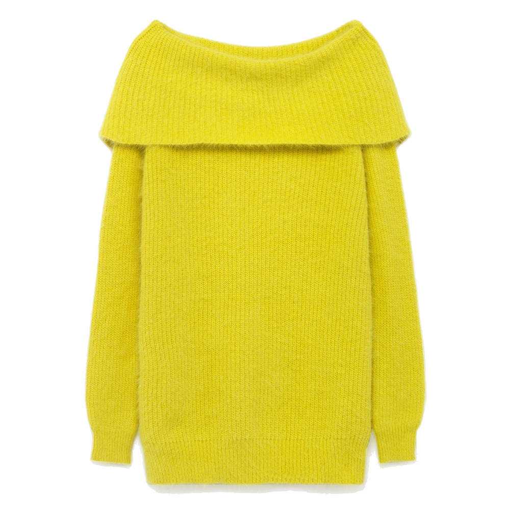 Mitibird Bardot Jumper - Lemon