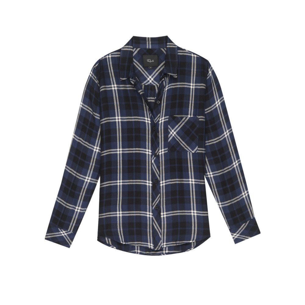 Hunter Checked Shirt - Navy, Almond & Tinsel