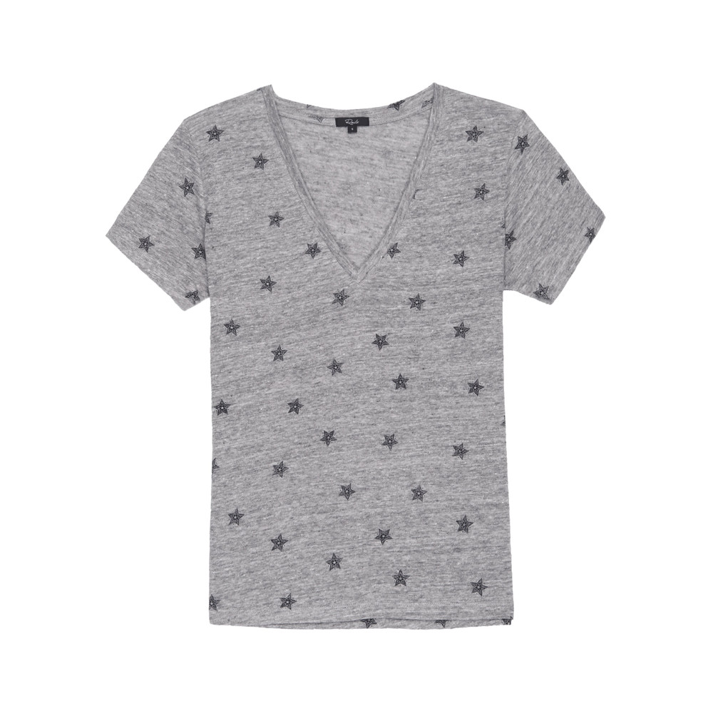 Cara Tee - Heather Grey Stars