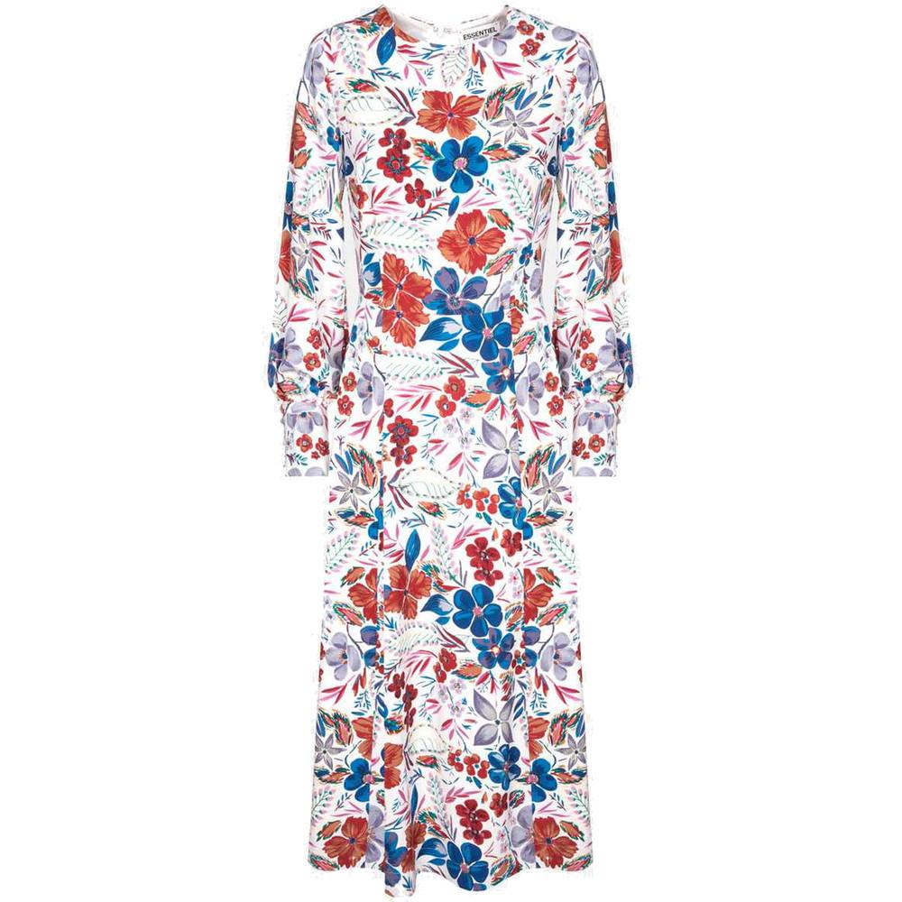 Saga Floral Midi Dress - Off White