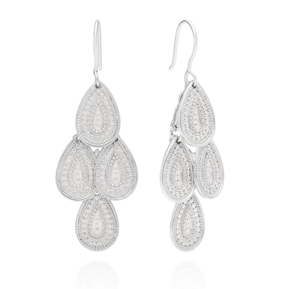 XL Chandelier Earrings - Silver