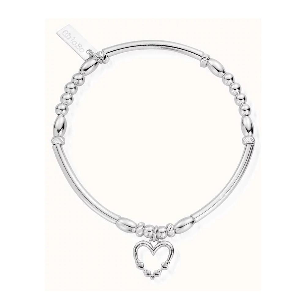 Lost in Love Heart Bracelet - Silver