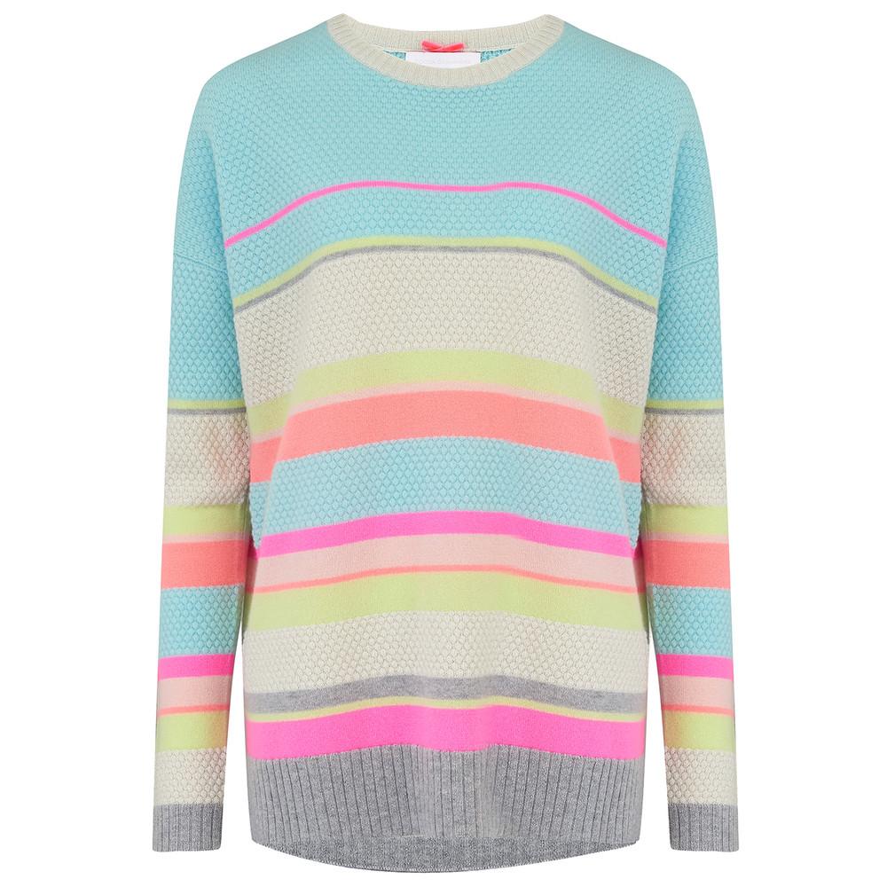 Lurex Stripe Cashmere Jumper - Sherbets