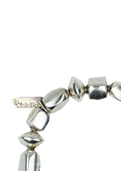 ChloBo Cube And Disc Tassel Bracelet - Silver main image
