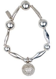 Chunky Bracelet With Large Dream Ball - Silver