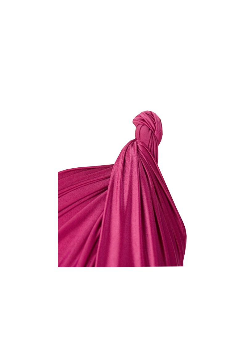 Butter By Nadia Long Satin Ball Gown - Raspberry main image