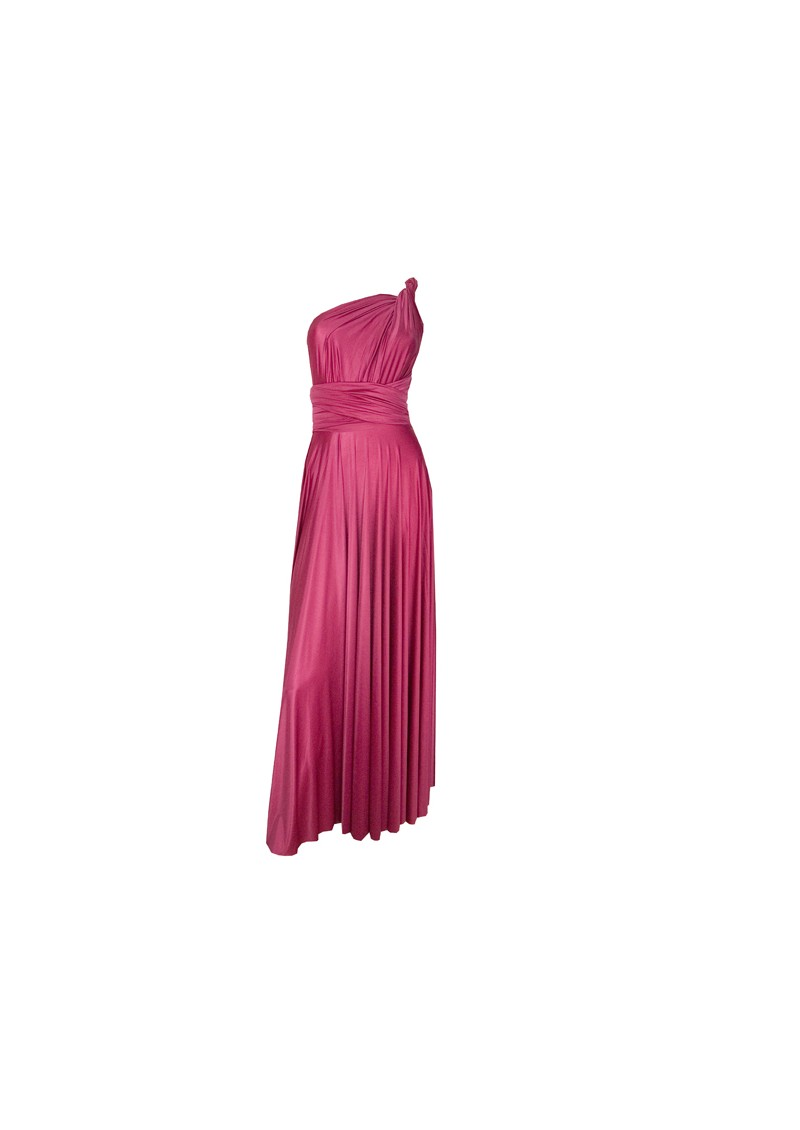 Long Satin Ball Gown - Raspberry main image