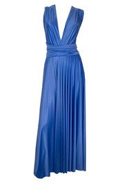 Butter By Nadia Long Satin Gown - Indigo