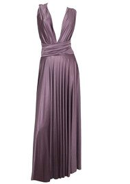 Butter By Nadia Long Satin Gown - Cavern