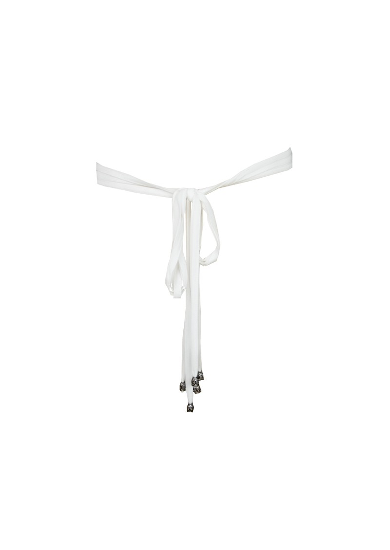 Tassle Belt - White main image