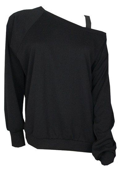 LnA Off Shoulder Top - Black main image