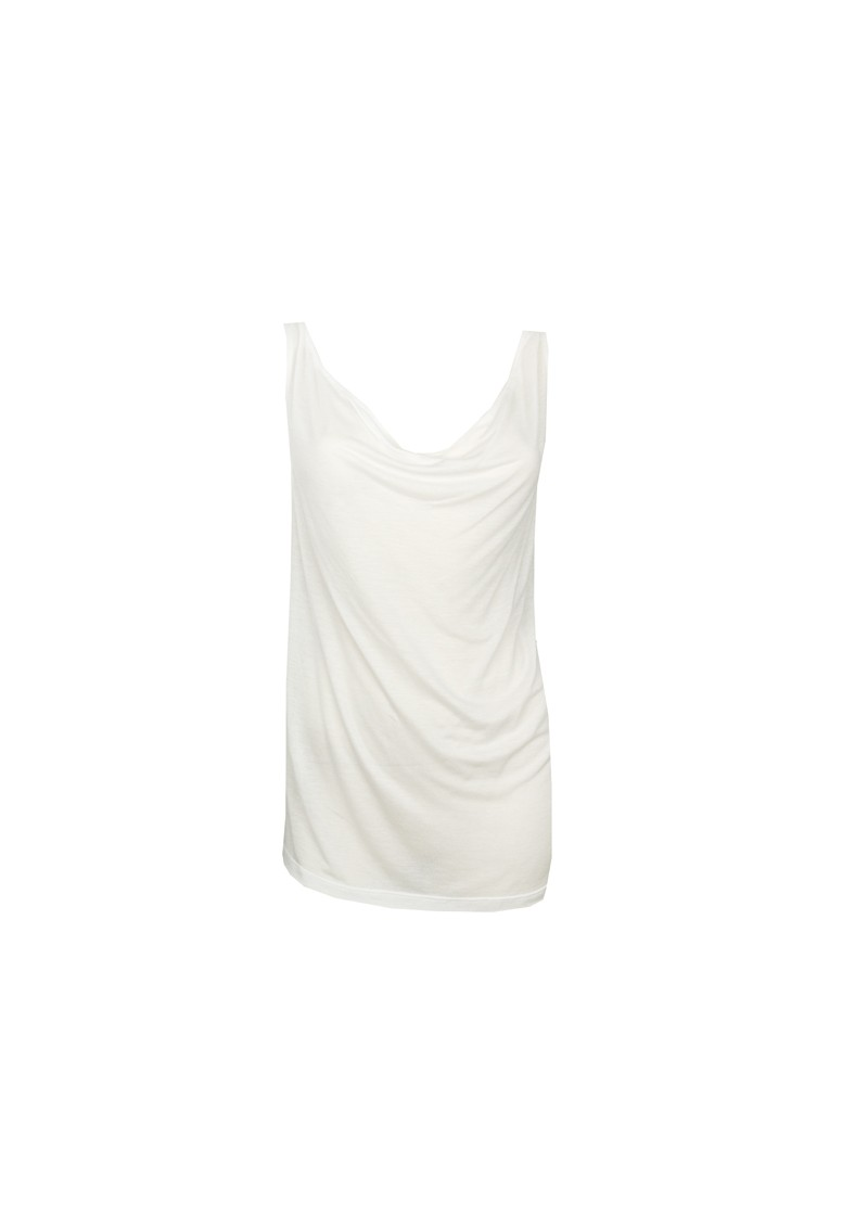 All My Love Basic Cowl Neck Cashmere Mix Vest - White main image