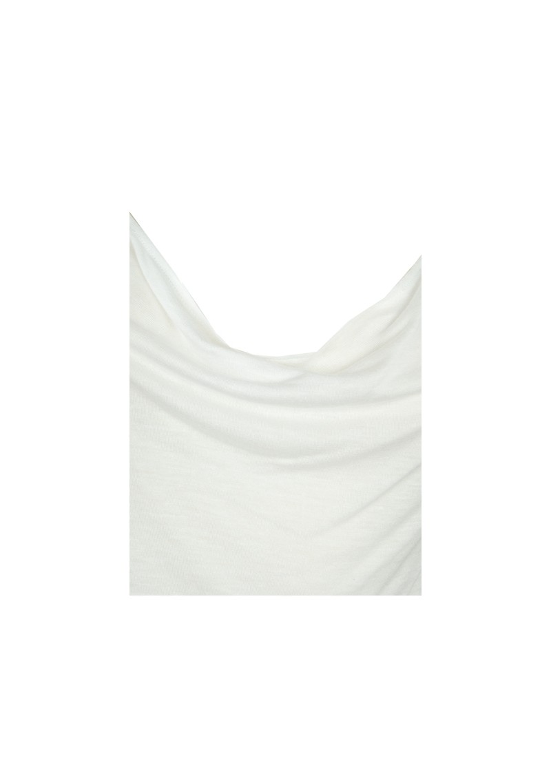 Basic Cowl Neck Cashmere Mix Vest - White main image
