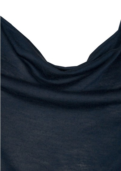 All My Love Basic Cowl Neck Cashmere Mix Vest - Navy main image