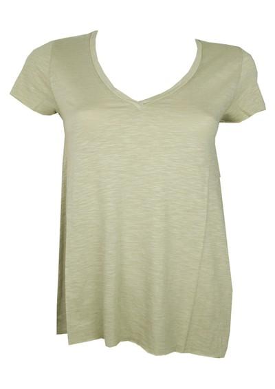 American Vintage Jacksonville Short Sleeve V Neck Tee - Clay Green main image