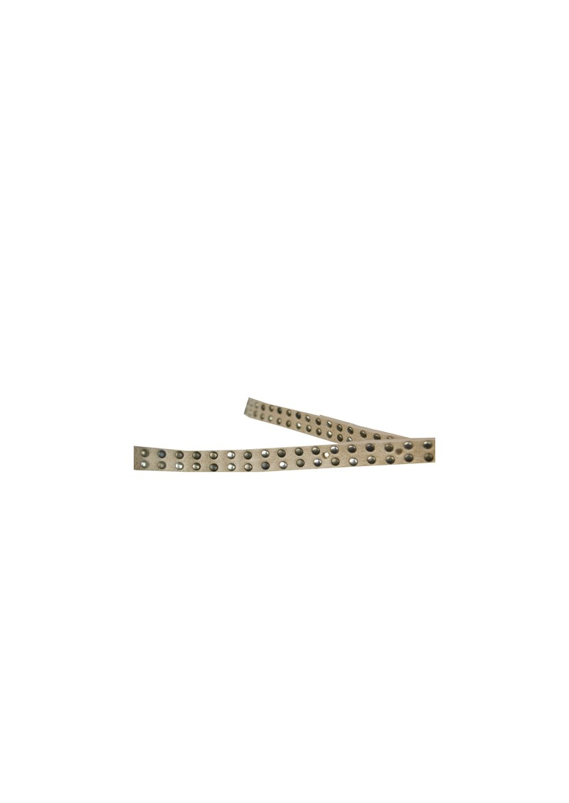 Sicile Narrow Studded Belt - Nude main image