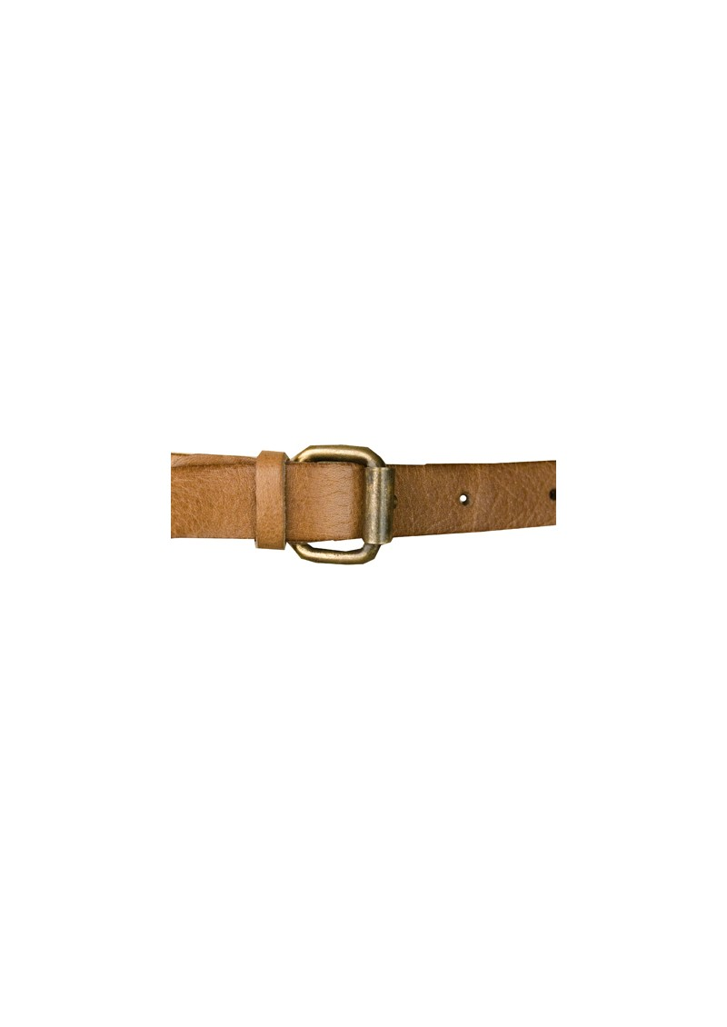 Azelle Leather Belt with Studs - Camel main image